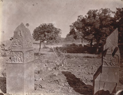 Sculptured pillars at Rajaona, Monghyr (Munger) District 1003179